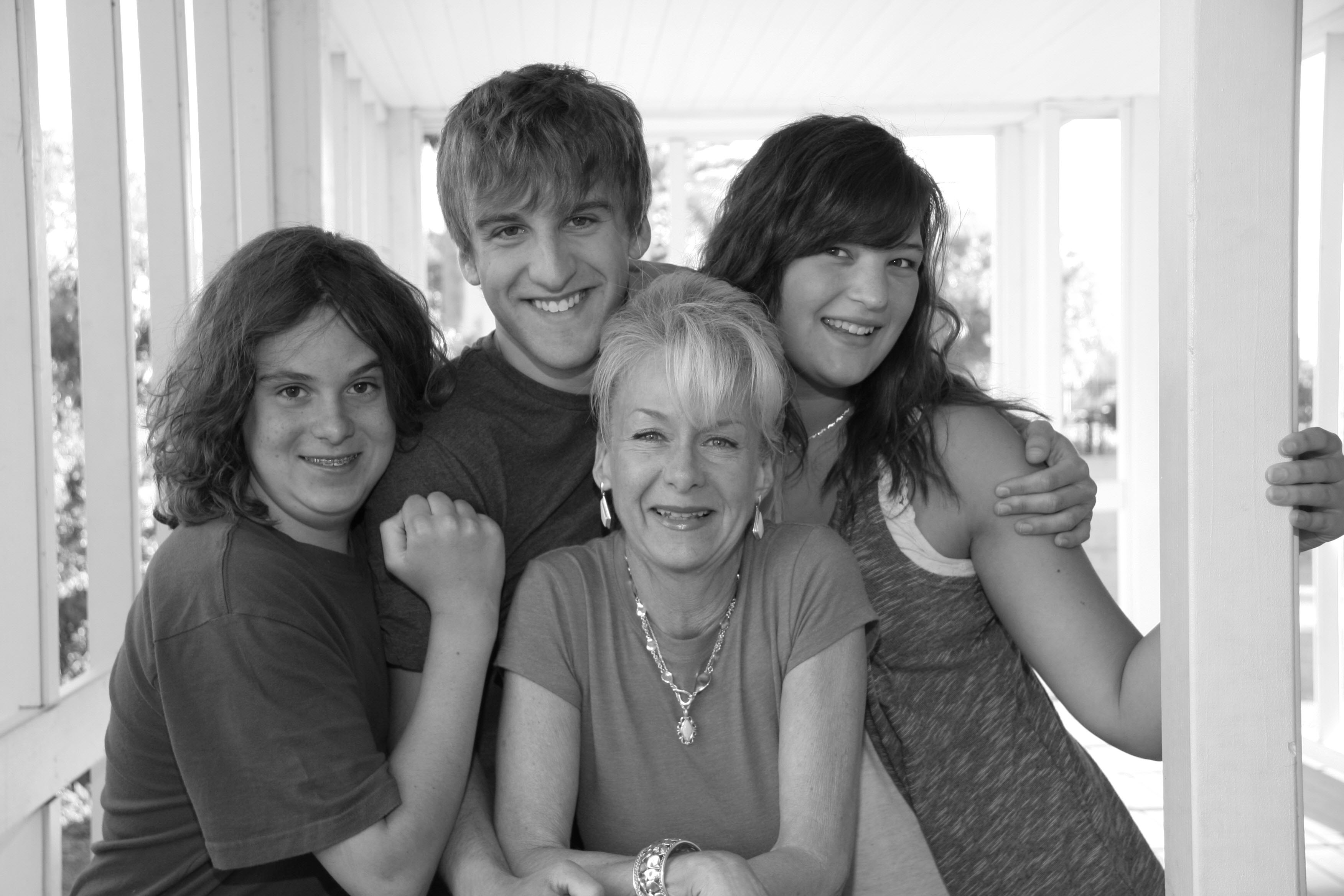 Left to right. Lil bro, Me, Mom, and my beautiful girl