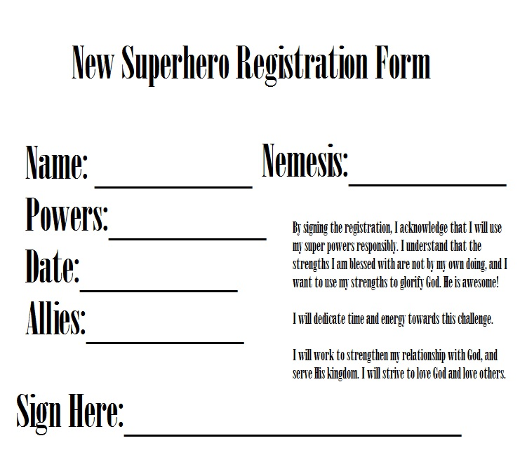 New Superhero Registration Form