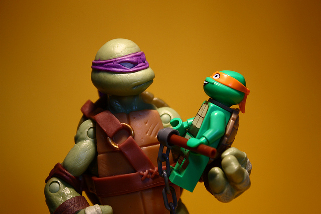 Ninja Turtles Donatello and Michaelangelo